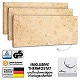 3er-Pack Marmony M800-0066 Jura mit Thermostat Marmor Naturstein Infrarot-Heizung inkl....