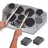 WMDXTM Tragbare elektrische Tisch Drum Set-Maschine mit Digital Panel, 7 Drum Pad, Hallo-Hat/Kick...