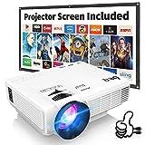 Beamer, DR.Q Mini Beamer 3800 Lumen Full HD, Projektor Tragbar Videoprojektor untersttzt 1080P, LED...