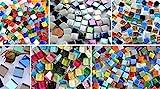 Bazare Masud e.K. Kennenlernmix: 560 St. Mosaiksteine Bastelmix aus 6 versch. Art. alle 1x1cm ca....