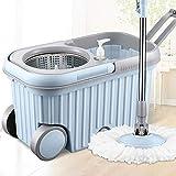 Rong Vollautomatische Mop mit Eimer Rotating Haushalt Freihändige Washing Mop (Size : 2 mop Cloth)