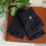 Handschuhe Winterhandschuhe für Damen,Herrenhalbfinger-Flip-Flops, warme...