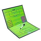HOMDREAM Fußball-Taktik-Brett-faltendes Trainer-Brett Mit Markierungs-Stücken