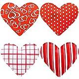 MIK funshopping 4er Set Taschenwrmer in Herzform, Herz, Fingerwrmer, gegen kalte Hnde im Winter
