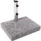 Anaterra Sonnenschirmständer, Schirmständer speziell für Balkon, aus Granit und Edelstahl, 25 kg,...