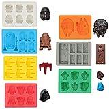 Sunerly Eiswürfelformen / Silikonförmchen in Form von Star-Wars-Charakteren, ideal für...