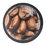 Schublade zieht Griff Kaffeebohnen Kaffee profitieren von Getränk Koffein Drucke für...