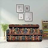 LMFshop Table On Bookshelf Full Books Sofa Seat Cover Sofa Cushion Seat Covers Fitted Furniture...