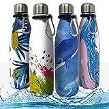 Bottles Empire Vakuum Isolierte Edelstahl Trinkflasche Thermosflasche für Kinder, Kleinkinder,...