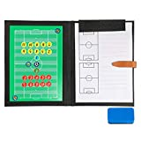 BizoeRade Professional Fuball Taktikmappe Taktiktafel Fuball Coach-Board mit Aufbewahrungstasche