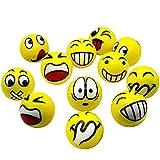 Emoji Anti-Stress Ball Knitter Smiley Gesicht Mit Lustigem Gesicht Druckentlastung Spielzeug...