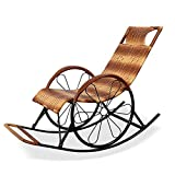 Chair Schaukelstuhl Allwetter Sessel PE Wicker Klassik Lounge Hand Made Sling Balkon Porches Rocker...