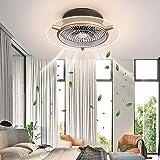 Deckenventilator Licht,Ventilator 48W LED Licht Unsichtbares Lüfter Licht mit Fernbedienung...