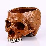 DONG Home Schdel Harz Schdel Film Shooting Set Requisiten Modell Big Flower Pot Skull