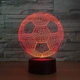 3D Led Touch Control Und Fernbedienung Fußball Lampe 16 Farben Nacht Lampen Kinder Usb Tischlampe...