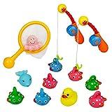 Badespielzeug Angelspiel badespritztiere, Wasser Pool Klingende Spielzeug, Wasser Play Set, Ente...