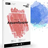 A4 Aquarellpapier [300g] - Aquarellblock mit 32 Blatt - Malblock für Kinder & Erwachsene -...