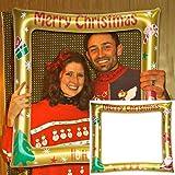 TwoCC Weihnachtsdekoration Weihnachtsfotorahmen Fotozubehör Weihnachtsfeier-Fotorahmen Aufblasbarer...