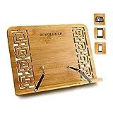 Lesestnder Kochbuchhalter Bambus H x B x T: 24 x 34 x 20 cm Buchstnder fr Kche und Bro, iPad Air 2 3...