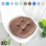 Stuhlkissen Runde Einfarbig Sitzkissen, Morbuy Atmungsaktiv Leinenimitat Tatami Mat Komfortable...