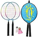Schildkrt Kinder Federball Set Junior, 2 verkrzte Schlger 45,5 cm, 2 Federblle, in 3/4 Hlle, 970901