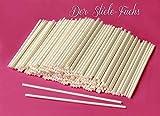 50 CAKE POP STICKS/STIELE LOLLIPOP STIELE PAPIERSTIELE 12 cm x 0,4 cm