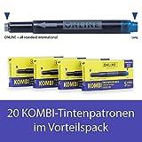 Online Kombi-Tintenpatronen (Universal-Patronen, kompatibel mit allen gängigen Füllern, auch...