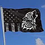 Elaine-Shop Outdoor Flags Abgenutzte USA Flagge Tribal Wolf 4 * 6 Ft Flagge fr Wohnkultur Sport Fan...