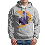 GHMJVHFG Hooded Sweatshirt for Men's Casual Witch Moon Halloween Pullover Hoodie XL