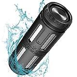 Bluetooth Lautsprecher Wasserdicht, 30 Stunden Spielzeit, Starkem Bass Outdoor Lautsprecher mit LED...