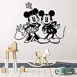wukongsun Klassische Cartoon Maus entfernbarer Wandaufkleber für Kinderzimmerdekoration...