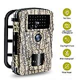 Wildkamera Nachtsichtkamera 1080P HD Wildtierkamera Schwarze Low Glow IR LEDs, IP66 wasserdichte...