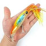 Generic Farbe 6: 1 x Tintenfisch Jigs 14 cm/40 g Angelköder Iscas Artificiais para Pesca Isca...