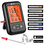Te-Rich Bratenthermometer Bluetooth Grill Thermometer Digital Funk Küchenthermometer Wireless...