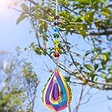Nice Dream Sonnenfänger mit Kristallanhängern fürs Fenster, Feng Shui Regenbogenmacher Kristall...