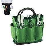PBQWER Tote Garten-Werkzeug-Tasche mit Taschen Garten Werkzeugtasche, Garten-Einkaufstasche mit 8...