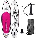 SUP Board Stand up Paddling Surfboard' Kolibri' 300x76x15cm aufblasbar Alu-Paddel Pumpe Rucksack...