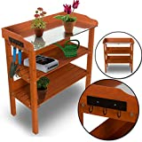 nxtbuy Pflanztisch Classic mit verzinkter Metall Arbeitsplatte - wetterfester Gartentisch aus...