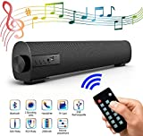 Soundbar Lautsprecher fr TV, 42.9cm Tragbarer 4.2 Bluetooth Speaker Soundbox mit 2200mAh Akku, 2 x...