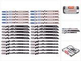 Bosch Professional 2607010903 Professional Stichsägeblatt Set, 1 V, grau, 30 Stück