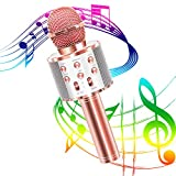 Karaoke Mikrofon, Bluetooth Karaoke Mikrofon tragbar drahtlos dynamisch Mikrofon 4.1 Lautsprecher...