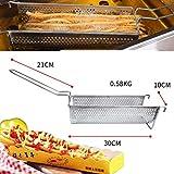 Alqn Haushalt Extra Lange 30 Cm Pommes Frites Maker Maschine Edelstahl Kartoffelpüree Extruder,...
