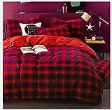 HDBUJ Bettbezug Aus Baumwolle, Quadratisch Bedruckte Bettwäsche, EIN Bettbezug Und Zwei...