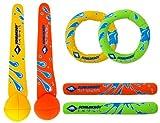 Schildkrt Neopren Diving Set, 6-teiliges Tauchset, je 2 Ringe, Stbe, Blle, Sandfllung, weich, stehen...