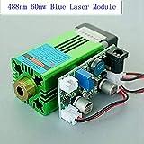 60mw 488nm Einstellbares blaues Laser Dot modul 12V / TTL 1-20K Hz + Adapter
