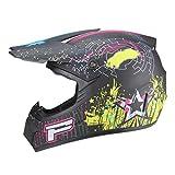 Yunyisujiao Sport Off Road Motorrad, Motocross Helm Dirt Bike Quad Absturz Vollgesichts Motorrad...