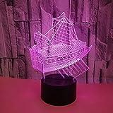 Neue Sailing 3D Tischlampe 7 Farben Touch Led Stereovision 3D Nachttisch Tischlampe Home Kids...