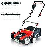 Grizzly Elektro Power Vertikutierer ERV 3718, Elektrischer Rasenlfter 1800 W Turbo Power Motor, 37...