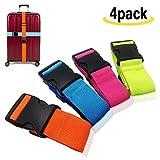 Amison Kofferband Gurt - Koffergurt Gepäckband Verstellbare Koffergurte mit Schnalle Schließung...