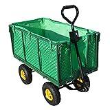 HENGMEI Bollerwagen Gartenwagen Handwagen Transportwagen 500kg belastbar für Gärten (Modell B)